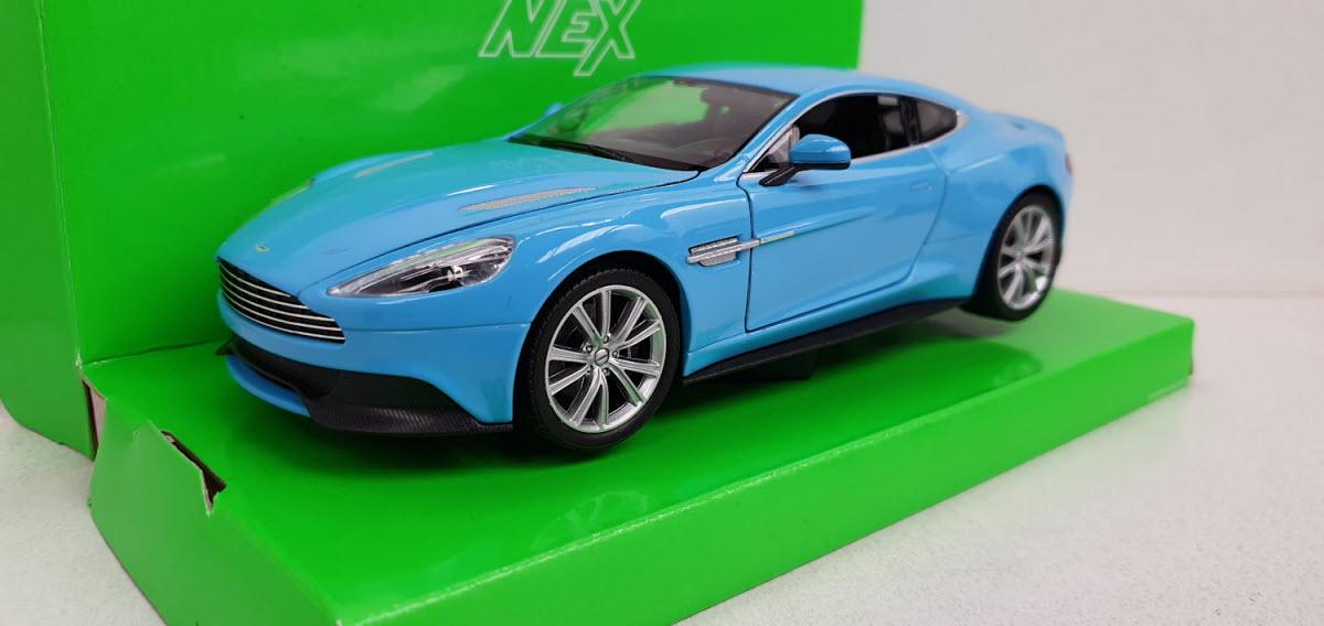 Welly Aston Martin Vanquish Light Blue